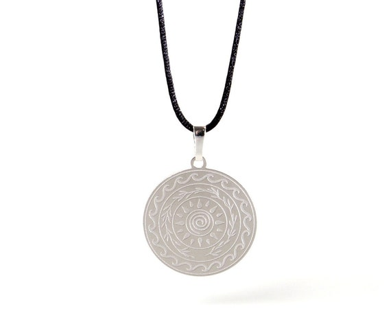 Lucky Charm 2021 Silver Necklace with Cotton Cord