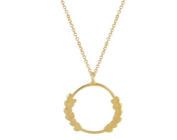 Olive Leaf Wreath Necklace