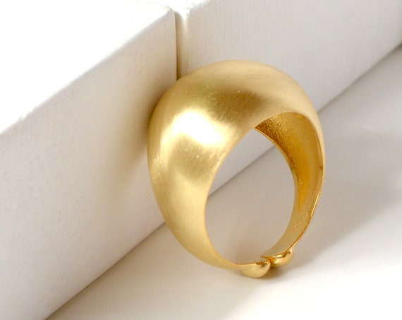 Wide Dome Ring