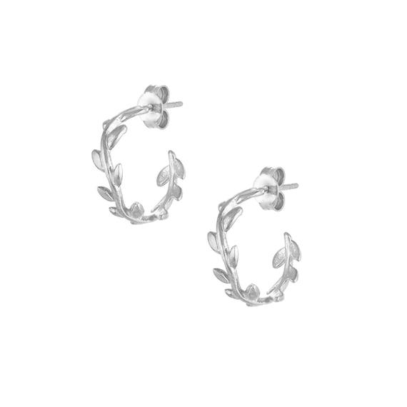 Olive Hoop Earrings
