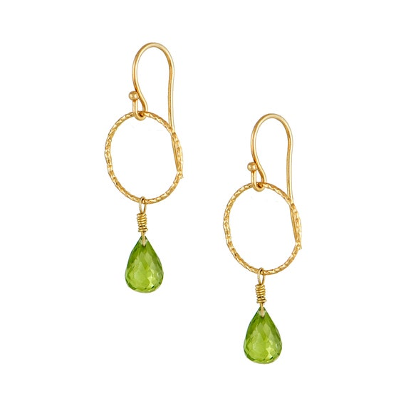 Peridot Drop Earrings