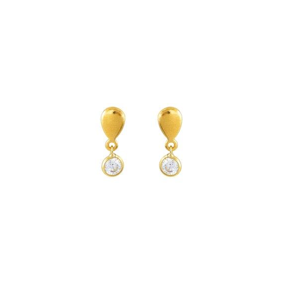 Zircon Drop Stud Earrings