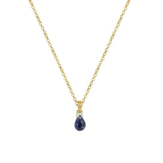 Tiny Ioite Drop Necklace
