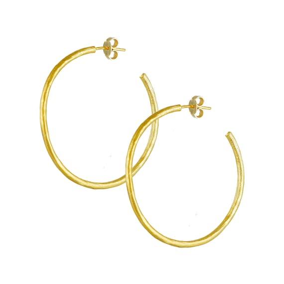 Large Hoop Textured Earrings