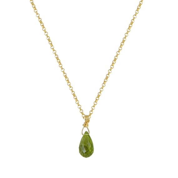 Peridot Drop Necklace
