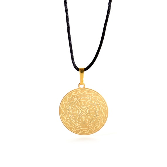 Lucky Charm 2021 Gold Necklace with Cotton Cord