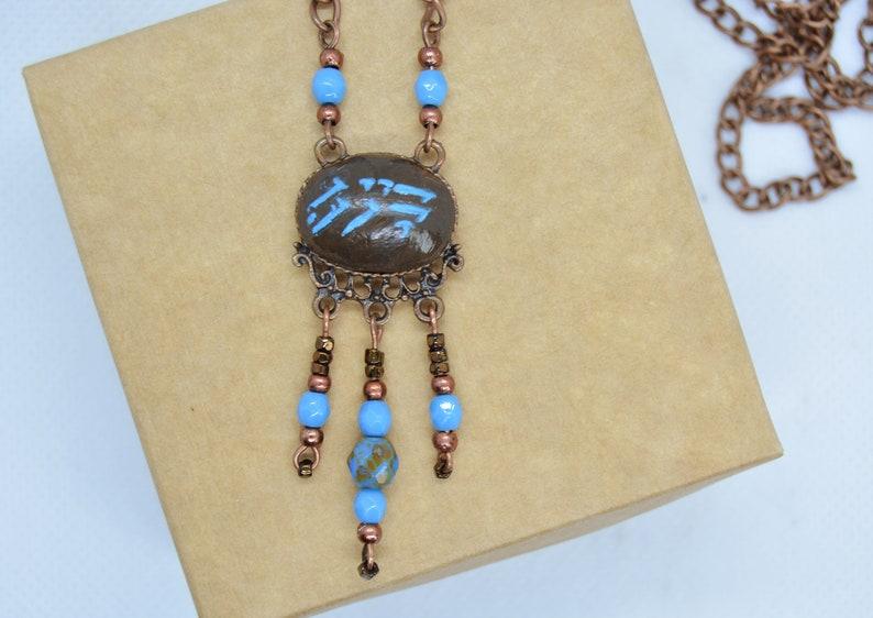 Skyrim inspired thu'um necklace, Dragon Dragon Shout