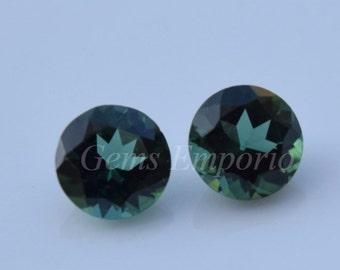Green Tourmaline 6 mm Round Faceted, Excellent Quality Gemstone. Price per piece