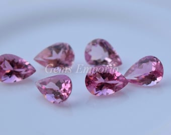 Pink Tourmaline Pear Faceted7x5 MM. Good Color and Quality. Price per piece.