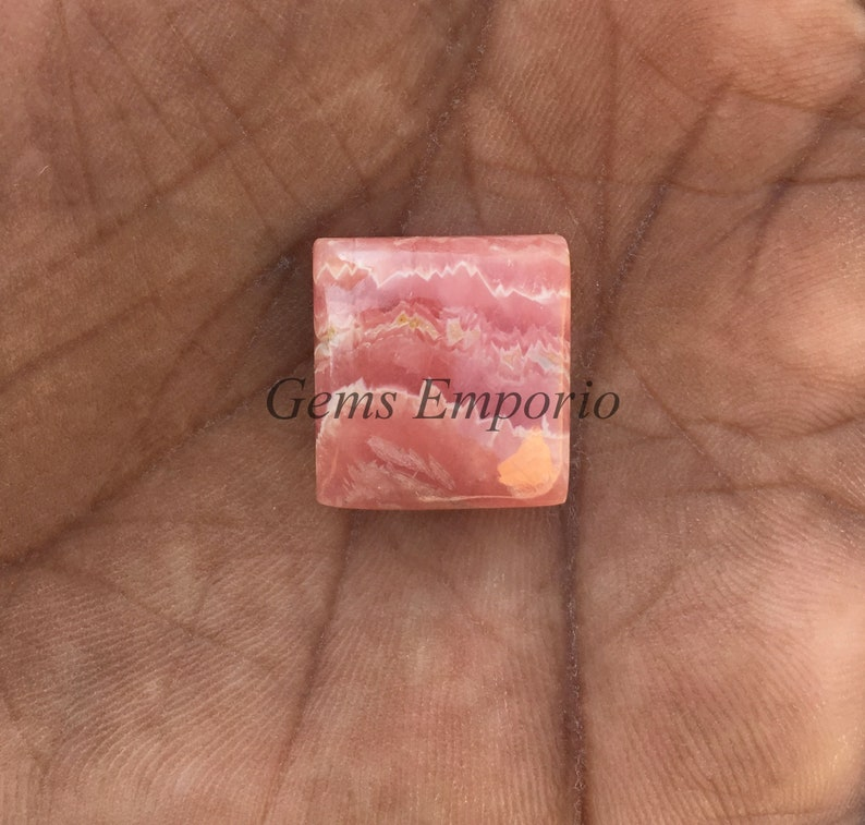 Natural Rhodochrosite Size 17x16 MM Price Per Piece. Pink Rhodochrosite Gemstone Rhodochrosite Cabs Cushion Cabochon