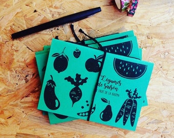 Vegetables, fruit of the reason - notebook A6 (10 x 15 cm). Calendar-made to use local, seasonal