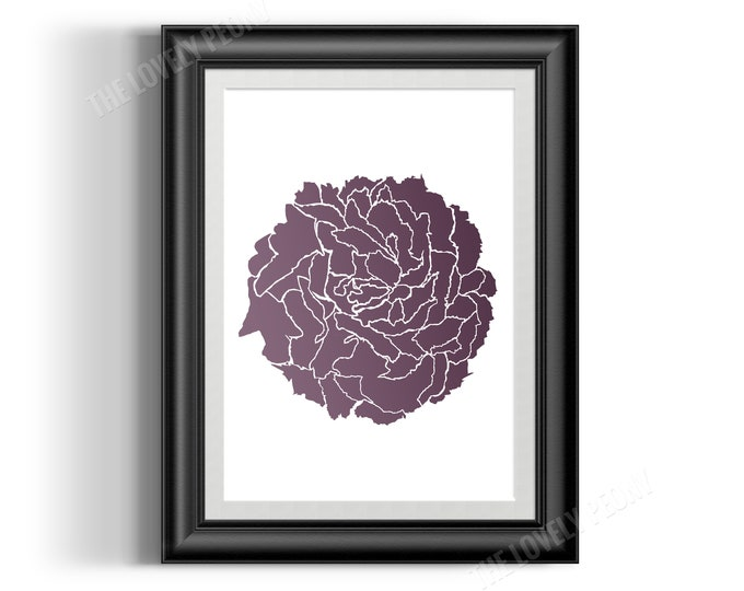 Digital Print - Abstract Peony