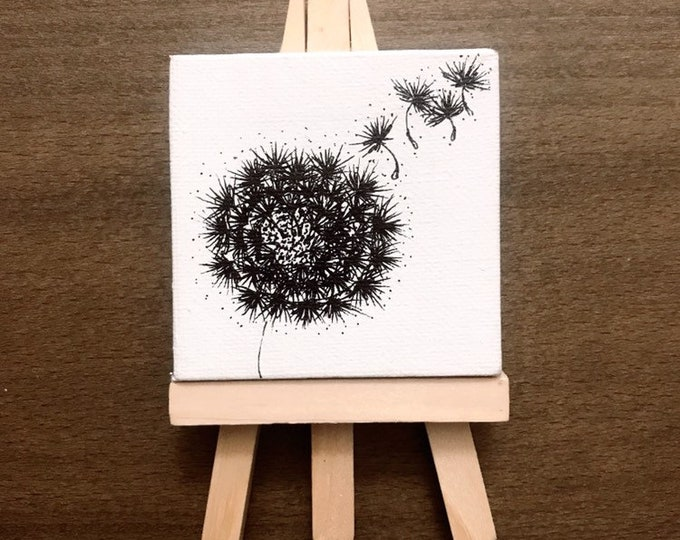 Dandelion on Mini Canvas