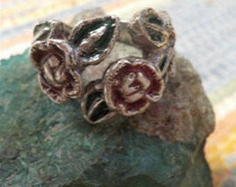 Silver Victorian Rose Ring