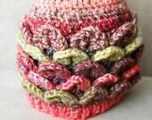 Baby hat. Girls crochet p...