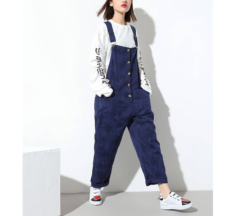 8399e5277c Womens Loose Fitting Summer Printed Floral Cotton Jumpsuits