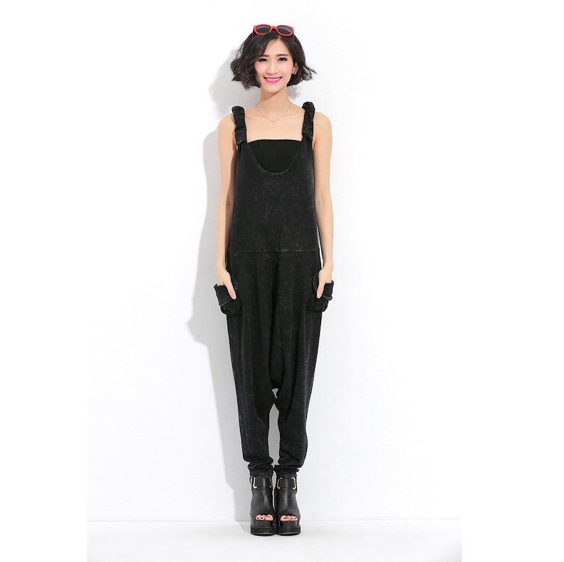 Overalls For Women Womens Loose Fitting Slim Hip Hop Cotton Overalls With Pockets Loose Pants Pants For Women Baggy Pants Casual Pants