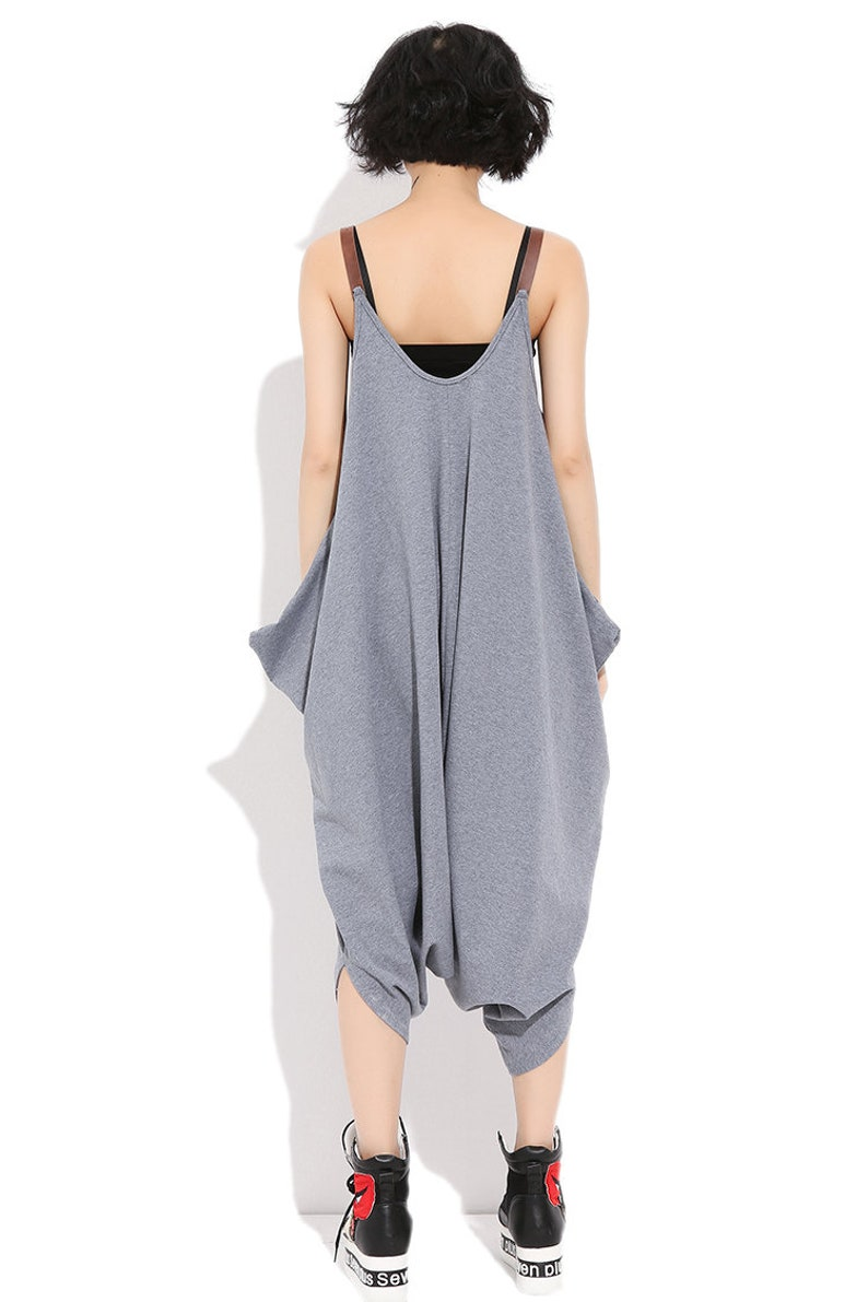 Overalls For Women Baggy Pants Loose Pants Womens Loose Fitting Hip Hop Thin Cotton Overalls With Pockets Pants For Women Casual Pants