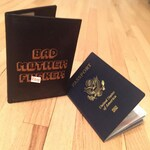 BAD MOTHER FUCKER International Leather Passport Holder Pulp Fiction