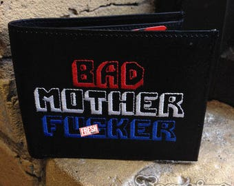 USA 'MERICA Bad Mother Fucker Wallet Embroidered BMF Brand by SexyPimp Vintage