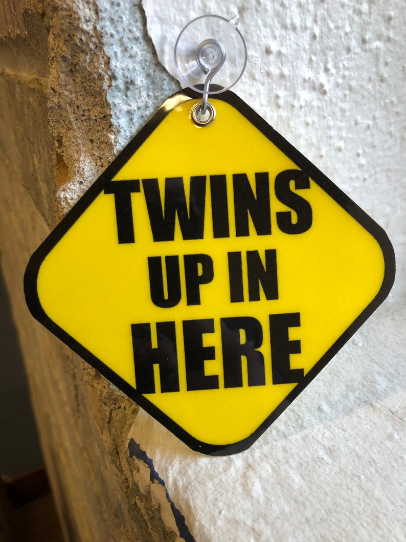 Twins Up In Here:  Suction Car Signs  Baby on Board Set of image 0