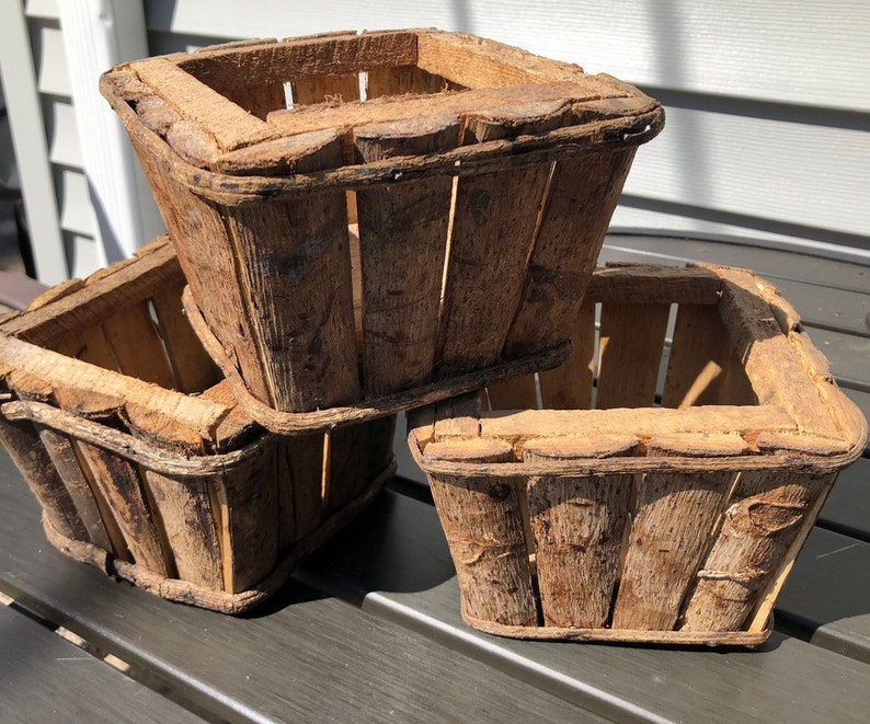Set of 3 Hand-Crafted Wooden Planter Boxes Rustic Shabby Chick image 0
