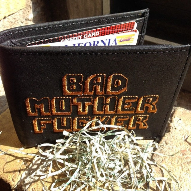 Black Original BMF® Brand Bad Mother Fcker Leather Wallet image 0