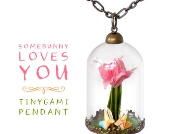 Somebunny Loves You Origami Pendant