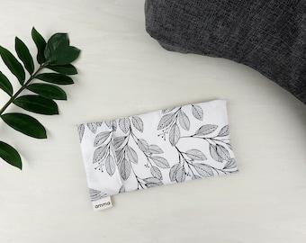 Lavender eye pillow with washable cover | Massage Meditation Relaxation Savasana Headache Sinusitis | 100% cotton White Laurel