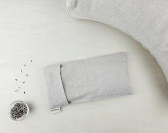 Lavender eye pillow with washable cover | Massage Meditation Relaxation Savasana Headache Sinusitis | Hemp & organic cotton SAND
