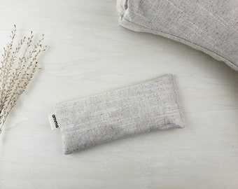 Eye pillow with Lavender Amma Therapy | Meditation Cushion & Relaxation | Organic Pearled barley | Cotton canvas | Cotton and linen sand