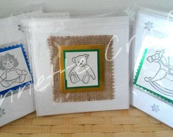 Handmade Christmas Cards pack of 5