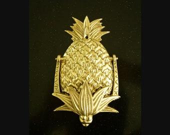 Pineapple Door Knocker, Gold, Polished Brass Vintage   Medium