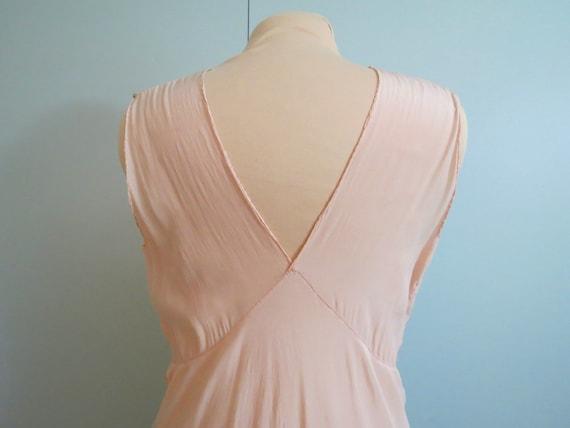 Vintage Art Deco 1930's Silk Lingerie Gown Pink B… - image 5