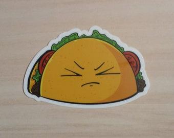 Vinyl Waterproof Sticker://Tantrum Taco Tuesday Chibi Taco Sticker