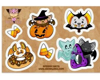 Spooky Bats Complete Version 1 Matte Vinyl Sticker Sheet