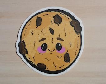 Vinyl Waterproof:// Adorable Chibi Chocolate Chip Cookie Cutie Sticker