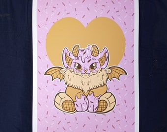 Limited Edition First Run 1 out of 13 Numbered Archival Artist Prints Batling Ice Cream Pet