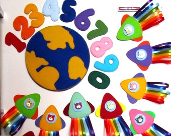 Developmental game of felt-Game for boys-Magnetic math game-Montessori game-Active account-Education Toy-Preschool games