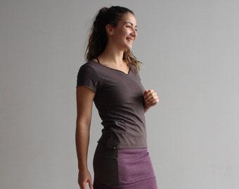 Hemp Organic Cotton Short Sleeve T-shirt Grey