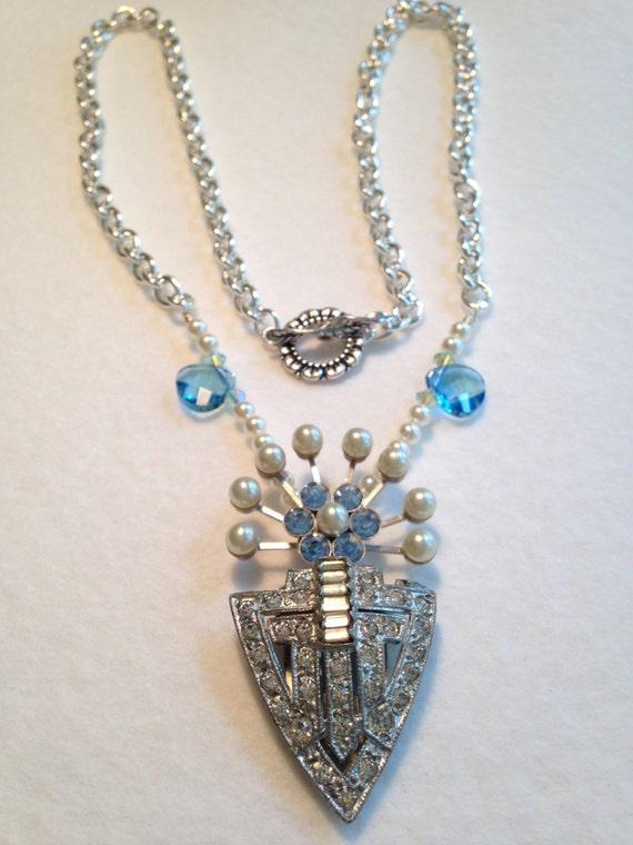 Vintage Art Deco 1930's repurposed necklace