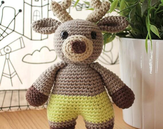 Reindeer - Animalius. Amigurumi Pattern PDF, Animal Toy, Deer Nursery Doll, Nice Crochet, Cute Children Gift, DIY, Crafts, Instant download