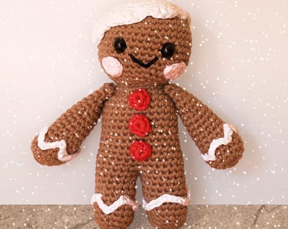 Gingerbread Man - Christmas Patterns. Amigurumi Pattern PDF.