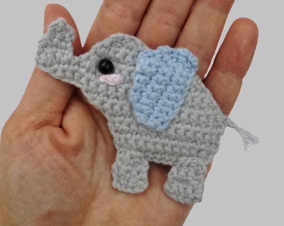 Elephant Applique - Appliques Patterns. Crochet Pattern PDF, Nursery Crochet, Kids Gift, Digital File, Instant Download, Accessories Pattern