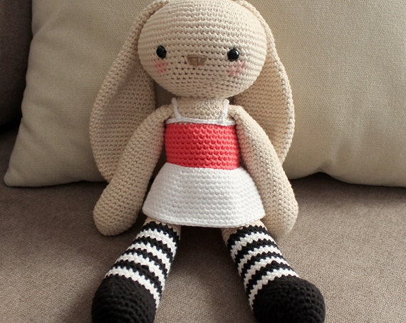 Big Bunny - Soft Toys. Amigurumi Pattern PDF.