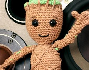 Baby Groot - Soft Toys. Amigurumi Pattern PDF, Guardians Of The Galaxy Doll, Geek Crochet, Kids Gift, Children Gift, Nerd DIY, Digital File