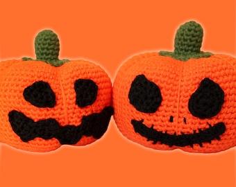 Halloween Pumpkins Pattern. Amigurumi PDF, Orange Decorative Art, Cute Gift, Easy Crochet, Home Decor, DIY, Fall Crafts, Digital File