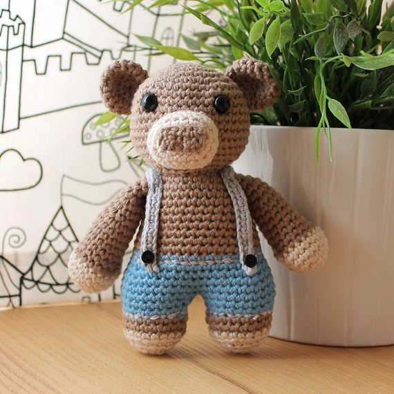 Bear - Animalius. Amigurumi Pattern PDF, Animal Toy, Teddy Nursery Doll, Crochet Pattern, Cute Children Gift, DIY, Crafts, Instant download