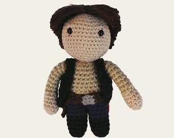 Han Solo - Star Wars. Amigurumi Pattern PDF, DIY, Crafts, Crochet Pattern, Rebel Alliance, Harrison Ford, Geek, Gift, Film, Instant download