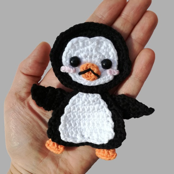 Penguin Applique - Appliques Patterns. Crochet Pattern PDF, Nursery Crochet, Kids Gift, Digital File, Instant Download, Accessories Pattern
